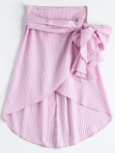 Zaful - Zaful Ruffled Asymmetric Skirt - AdoreWe.com