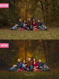 Photoshop Actions, Overlays, Editing Workshops, Photography Marketing Templates, Digital Backgrounds and so much more! Family Portrait Poses, Family Picture Poses, Family Picture Outfits, Family Posing, Fall Family Portraits, Portrait Ideas, Large Family Photos, Outdoor Family Photos, Fall Family Pictures