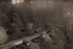 Date: January 1911 Location: Pittston, Pennsylvania Breakers boys at work at the Pennsylvania Coal Co. A kind of slave-driver sometimes stood over the boys, prodding or kicking them into obedience. Image by Library of Congress / National Child Labor Committee Collection