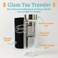 Glass tea traveler