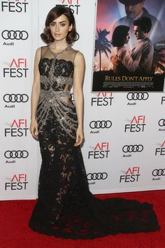 LILY COLLINS AT THE 2016 AFI FEST