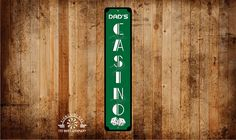 Casino metal sign custom, Personalize name sign, add your name, great gift, game room, She Shed, Man Cave, ( Ships Free ) by RightSideOutShirts on Etsy