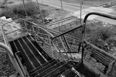 Stairway from Railroad Trestles in Port Richmond, #Philly