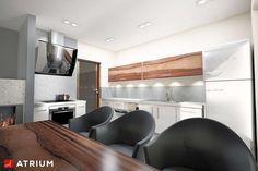 Wnętrze projektu Polo - wizualizacja 3 Minimal House Design, Simple House Design, Minimal Home, Home Building Design, Building A House, Design Case, Home Fashion, Bungalow, Minimalism