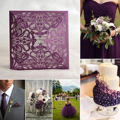 Associated historically with royalty and nobility the colour purple can be most striking as the central colour in a wedding theme especially when worn by the groom and groomsmen. Do you want to have a purple wedding? #weddinginspiration #weddingidea #weddingideas#wedding #weddings #weddingday#weddingcard #weddinginvitations #wedding #bestwedding #weddingcards #lasercut by elegantweddinginvites