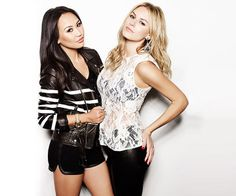 #dorothywang and #morganstewart from Rich Kids of Beverly Hills.  The sheer shirt is in!