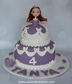 Princess Sophia cake with Doll topper