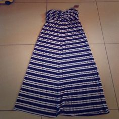 New with tags. Michael starts maxi dress Navy and white Michael starts maxi dress. Strapless... Bought the wrong size at a boutique and can't return it Michael Stars Dresses Maxi