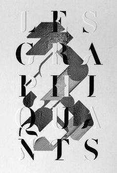 Poster Design: Une Saison graphique  | typography / graphic design: les graphiquants |