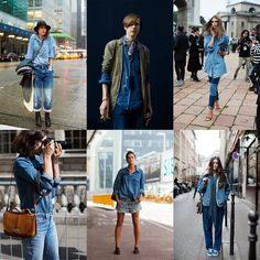 YES to all of this:    If You're Thinking About…. Denim on Denim « The Sartorialist