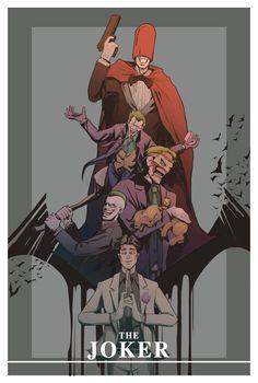 The evolution of Joker Joker Pics, Joker Art, Batman Art, Comic Manga, Comic Art, Comic Books, Dc Comics, Arte Nerd, Univers Dc