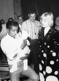Wife May Britt and daughter Tracey visit Sammy Davis, Jr. on the set of his film A Man Called Adam, January 1966 Martin Luther Jr, Swedish Actresses, Interracial Marriage, Sammy Davis Jr, Rich Image, Music Licensing, Book Tv, Photo Library, Royalty Free Photos