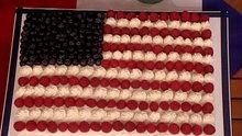 Summer Celebrations - Gorgeous Red, White, and Blue American Flag Sheet Cake-8 min. 2006