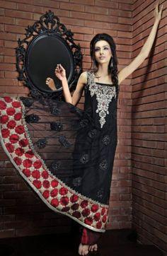 Black Deep Red Anarkali Frock & Trouser - Buy Latest Pakistani Bridal Fashion Dresses for Bride 2020 Prices Designer Party Dresses, Party Dresses Online, Party Dresses For Women, Fall Dresses, Pretty Dresses, Pakistani Wedding Dresses, Pakistani Outfits, Anarkali Frock, Lehenga
