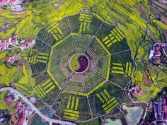 A bird's eye view of Eight Trigrams garden in SW China   A small county in Zunyi, southwest China's Guizhou Province, has built a giant Bagua – or Eight Trigrams – garden in a bid to attract visitors.  The garden, representing a traditional Chinese symbol, is 0.2 square kilometers in size and apparently took eight months to build.  The strokes of the Eight Trigrams symbol were made using 81 varieties of plants and wooden boardwalks, and will change color according to the seasons.  With a…