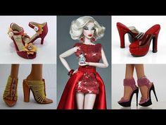 Sewing Barbie Clothes, Barbie Shoes, Barbie Clothes Patterns, Doll Shoes, Doll Patterns, Clothing Patterns, Barbie Dolls, Accessoires Barbie, Shoemaking