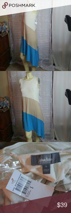 NEIMAN MARKUS Asymmetric hem dress NEW NWT very nice. Stretch. FLASH SALE NO OFFER Neiman Marcus Dresses Asymmetrical