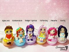 My Little Pony, MLP Jewelry, Kawaii Polymer Clay Necklace, Miniature Dolls, Macarroons, Macarons, Miniature Foods, Pastel Colors on Etsy, $25.00