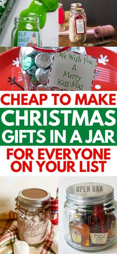 DIY Christmas gifts in a jar for coworkers, friends, family, and your boyfriend. These mason jar Christmas gifts for men and for women are the perfect cheap homemade Xmas gift for the Holidays. Which DIY gifts for Christmas will you be trying out this year? #christmasgifts #christmascraftsforkids #christmasgiftideas #masonjargifts #masonjarideas #diychristmasgifts Easy Homemade Christmas Gifts, Diy Gifts In A Jar, Mason Jar Christmas Gifts, Edible Christmas Gifts, Christmas Gifts For Coworkers, Easy Diy Gifts, Mason Jar Gifts, Mason Jar Diy, Christmas Crafts For Kids