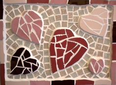 Collection of mosaic hearts - FREE p. Mosaic Tray, Mosaics, Valentines Day, Great Gifts, Hearts, Kids Rugs, Free, Collection, Color