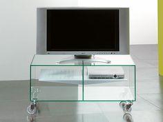 Carrello porta tv lcd in vetro Ebox