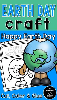Earth day craft for kids/ Earth day activity for kids/ Earth day fun New Year's Crafts, Summer Crafts, Crafts For Kids, Fathers Day Crafts, Valentine Day Crafts, Earth Day Activities, Activities For Kids, Earth Day Poems, All About Earth