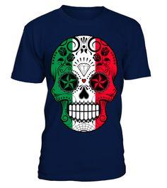 Italian Flag Sugar Skull