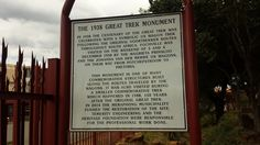 Fochville -The 1938 Great trek monument – Boer and Brit