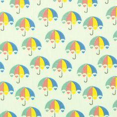 Cotton Herz Regenschirm 1 - Baumwolle - pastellgrün