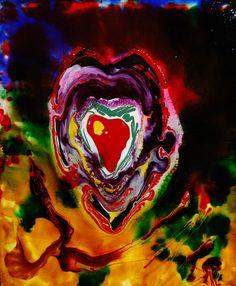 Un corazón late a la vida - Ana Castañer www.galeriadearteelbigote.com