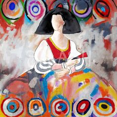 Menina Moderna Abstracto Kandinsky SPA1140 Kandinsky, Easy Canvas Painting, Palette Knife Painting, Arte Pop, Watercolor Landscape, Van Gogh, Altered Art, Creative Art, Art Girl