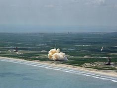 Remembering Project Gemini - The Atlantic An aerial view of the unmanned Gemini/Titan-II launch vehicle #1 liftoff at Cape Kennedy, Florida, on April 8 1964.