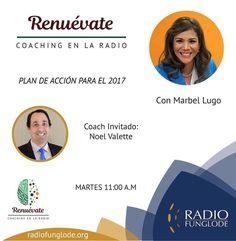 HOY Martes 11am RENUEVATE COACHING EN LA RADIO...estamos online por la aplicación Tune In desde tu celular o por http://ift.tt/1Abi79t o por http://ift.tt/1F8bzd1.  Marbel Lugo hoy con el tema PLan de acción con Noel Valette No te lo pierdas! Puedes escuchar los programas anteriores en ivoox-> podcasts-> renuevate coaching en la radio.  Síguenos en las redes: Instagram/Facebook- Renuevate Coaching en la Radio Twitter- Renuevatedo