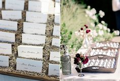 Love the calligraphy on these escort cards...