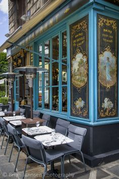 'Chez Julien' - Paris - France - By Brian Jannsen Restaurant Paris, Paris Restaurants, Paris Travel, France Travel, Chez Julien Paris, Paris France, Places To Travel, Places To Go, Sidewalk Cafe