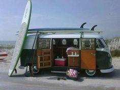 Volkswagen Van Surf Life...bucket list! Buy a Volkswagen 70's van and make it a surfing van :)