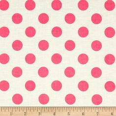 Riley Blake Le Creme Basics Medium Dots Cream/Hot Pink from @fabricdotcom Designed for Riley Blake Designs, this fabric is perfect for quilting, apparel, craft projects and home decor accents.