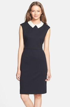 Betsey Johnson Embellished Jacquard Sheath Dress available at #Nordstrom