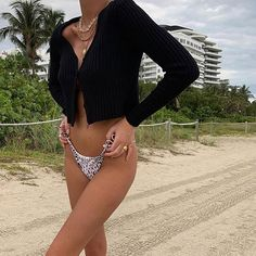 Swimwear & Beachwear for Women : Ribbed Cardi Black Swimsuits 2017, Best Swimsuits, Summer Outfits, Cute Outfits, Summer Aesthetic, Beachwear For Women, Look Cool, Style Me, Fashion Outfits