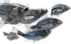 Scrap Metal Sculptures  These Eduard Martinet Creations Turn Junk into Fantastic Artworks