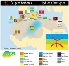 - Flag map of Berber peoples of North Africa.