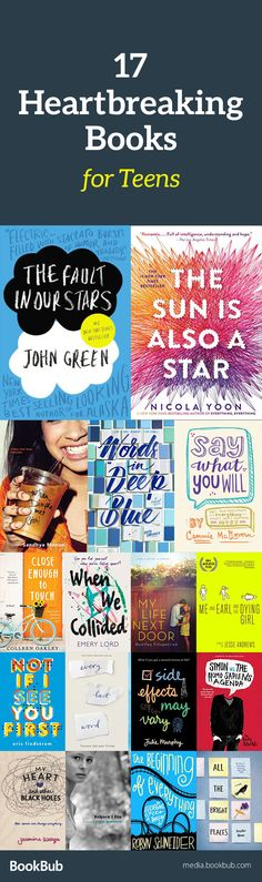 17 heartbreaking books for teens, including popular and bestselling novels. These life changing books are great for boys, girls, and for adults, too! A list of young adult books similar Nicola Yoon's recent movie adaptation. Ya Books, I Love Books, Book Club Books, Good Books, Book List Must Read, Book Lists, Reading Lists, Book Suggestions, Book Recommendations