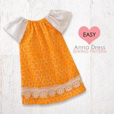 girls peasant dress pattern, baby peasant dress pattern