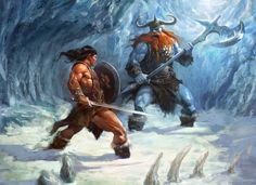 Illustration for Conan RPG. Copyright Modiphius Entertainment Ltd. Conan Rpg, Conan The Barbarian, Medieval Fantasy, Dark Fantasy, Conan The Destroyer, Vikings, Character Art, Character Design, Sword And Sorcery