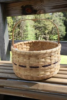 Hand Woven Laura's May Basket by BlueFrogBasketry on Etsy, $60.00