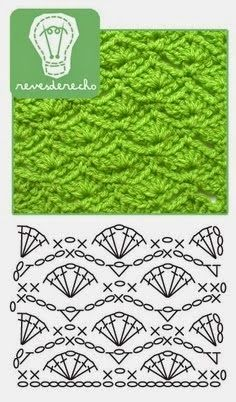 Watch This Video Beauteous Finished Make Crochet Look Like Knitting (the Waistcoat Stitch) Ideas. Amazing Make Crochet Look Like Knitting (the Waistcoat Stitch) Ideas. Crochet Stitches Chart, Crochet Motifs, Crochet Diagram, Knitting Stitches, Knitting Patterns, Crochet Patterns, Crochet Shell Stitch, Crochet Diy, Love Crochet