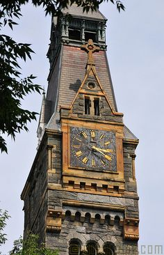 Clock Tower, Georgetown University, Washington DC - by Glyn Lowe Sistema Solar, Old Clocks, Vintage Clocks, Unique Clocks, Georgetown University, Time Stood Still, As Time Goes By, Time Clock, Clock Decor
