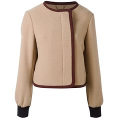 Chloé cropped jacket (11.130.350 IDR) ❤ liked on Polyvore featuring outerwear, jackets, red, snap jacket, red jacket, chloe jacket, long sleeve jacket and cropped jacket