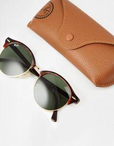 Ray-Ban | Ray-Ban Clubmaster Round Sunglasses RB4246 at ASOS