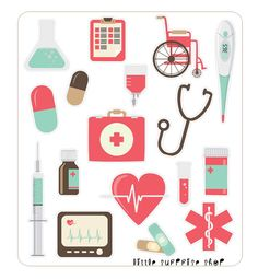 T030 Medical Stickers by LittleSurpriseShop on Etsy